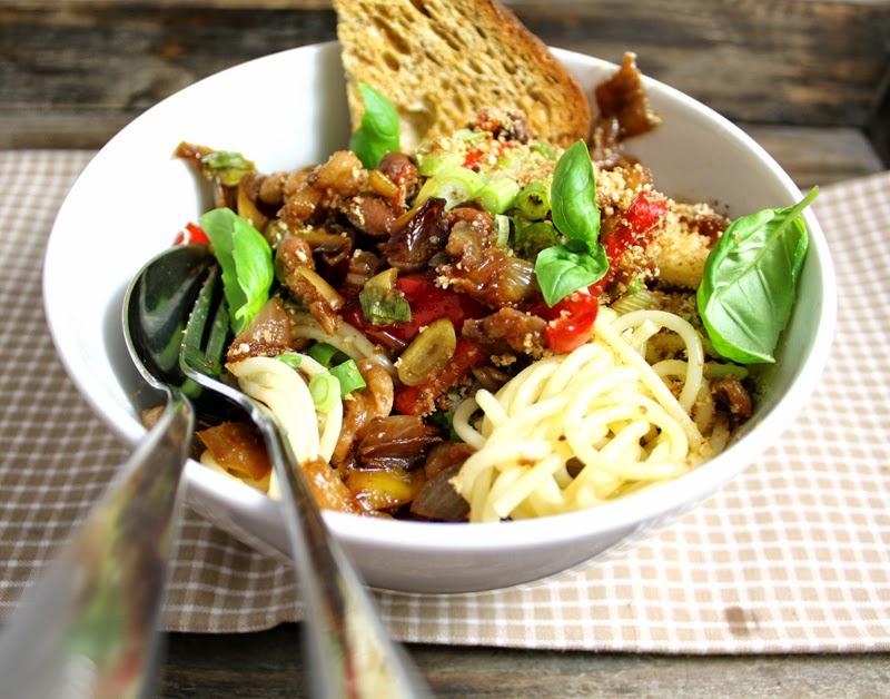 pastasalat med skinke og rømme