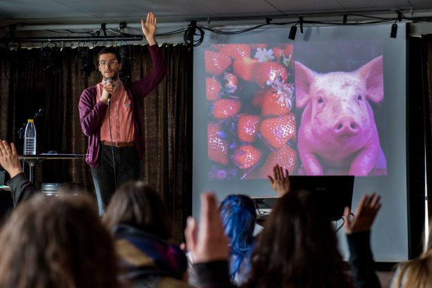 Ramin Winroth på Trondheim Vegan Fair 2016