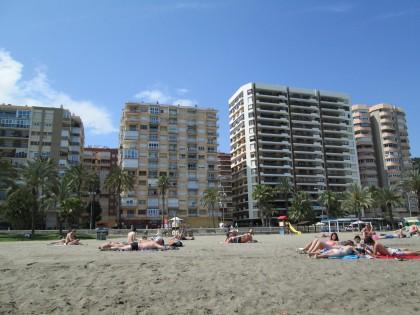 Stranden i Spania