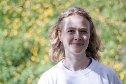Marte Munkeli, leder Norsk Vegansamfunn. Foto.