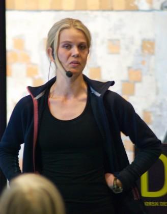 Vegetarløperen Hilde Vaøbjørn Hagelin. Foto.