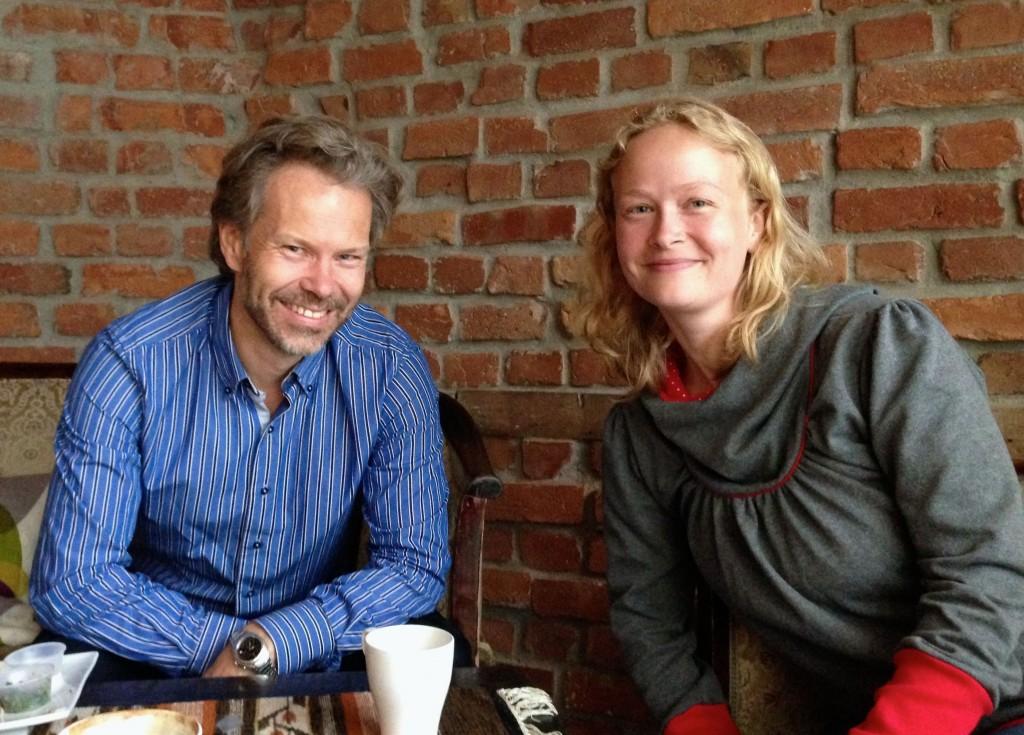 Bjørn Brennskag og Marte Munkeli. Foto.