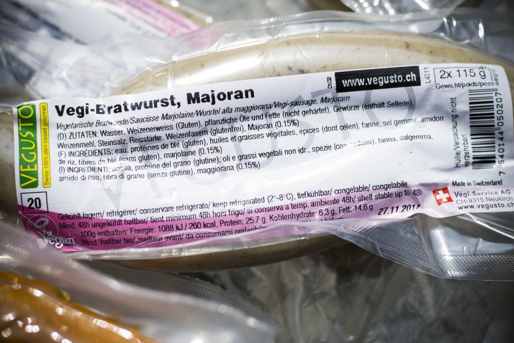 Vegi-Bratwurst majoran. Foto.