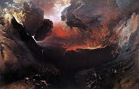 Great Day of his Wrath av John Martin. Maleri.