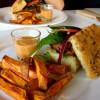 Burger på Funky Fresh Foods. Foto.