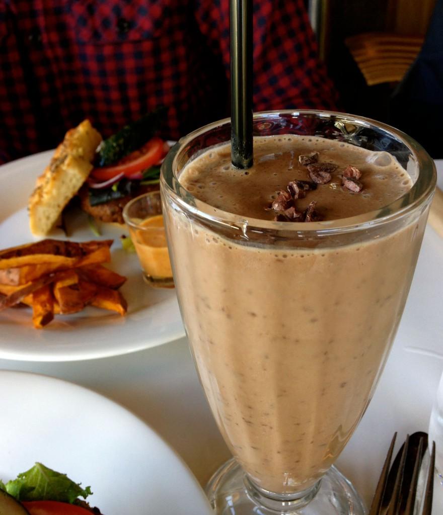 Milkshake. Foto.
