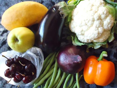 Frukt og grønt. Foto.