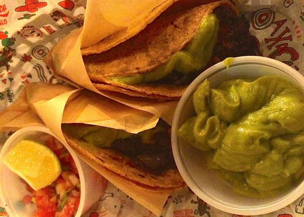 Vegansk taco. Foto.