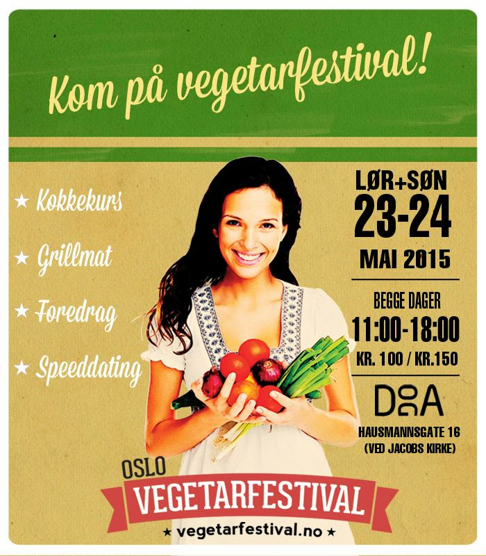 Oslo Vegetarfestival 2015. Plakat.