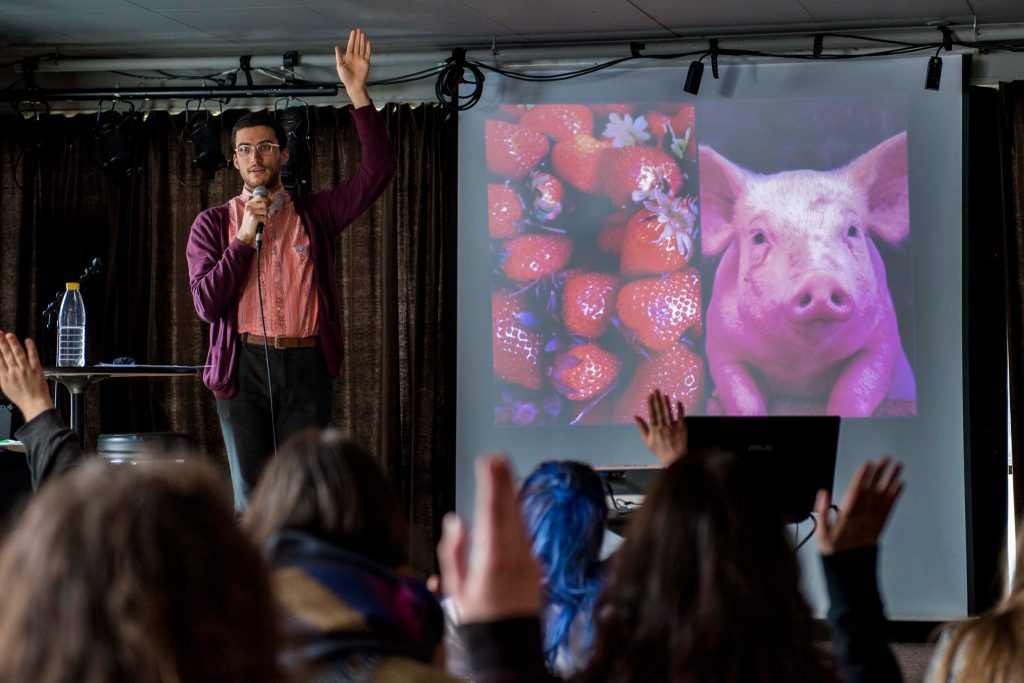 Ramin Winroth på Trondheim Vegan Fair 2016