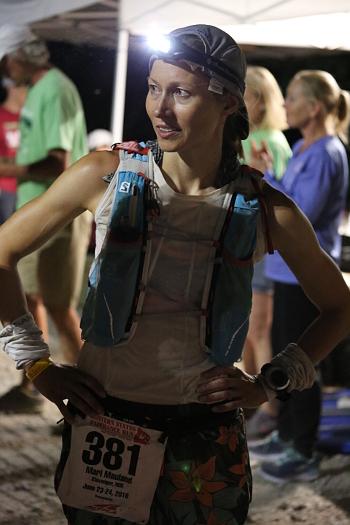 Mari Mauland under 100-miles-løpet Western States i USA tidligere i år. Foto: Mason Menninger
